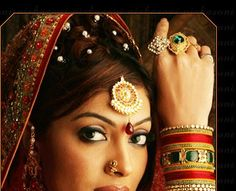 Indian beauty at its best - jewelry, hairstyle, bangles and all