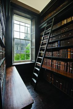 trendy home library room awesome house Home Library Rooms, Home Libraries, Closet Library, Library Study Room, College Library, Beautiful Library, Dream Library, Music Library, Personal Library