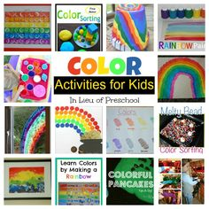 Color Activities for Kids - In Lieu of Preschool #GaleriAkal Untuk berbagi ide dan kreasi seru si Kecil lainnya, yuk kunjungi website Galeri Akal di www.galeriakal.com Mam!