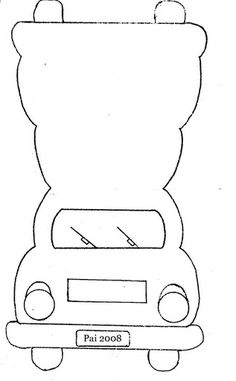 Car shaped Card Template