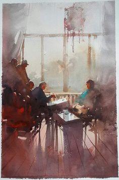 Alvaro Castagnet painting of Liu Yi in China