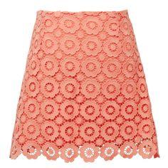 Colored crochet skirt