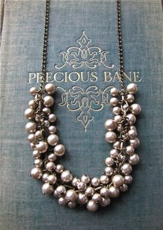 Items similar to Mocha Pearl Cluster Necklace on Etsy Jewelry Accessories, Fashion Accessories, Jewelry Design, Fashion Jewelry, Ladies Accessories, Statement Jewelry, Pearl Jewelry, Jewelry Necklaces, Do It Yourself Jewelry