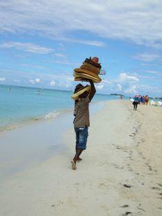 """""""HAAAAAAAAAAATS!"""" On the beach in Negril Jamaica"""