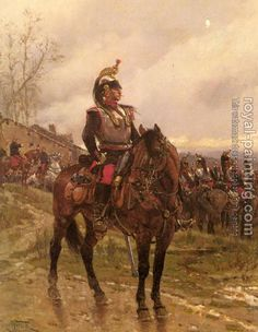 Adolphe de Neuville Prints  / Franco-Prussian War Prints / French Dragoons