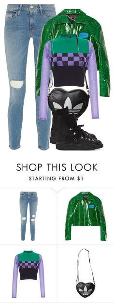 """""""Untitled #1789"""" by palemermaid ❤ liked on Polyvore featuring Frame, Hyein Seo, Versace, adidas Originals and Kenzo"""