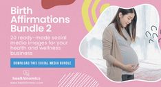 ❤️ SOCIAL MEDIA CONTENT ❤️ 🧡 🍼 Birth Affirmations Bundle 2 🧡 🍼 - Birth affirmations are sayings or statements designed to change your mindset and help you maintain a positive outlook or mood about the birth process. Positive birth affirmations can be a great tool to use during labor and delivery of your baby. They can help you to focus on the right things and get into the mental state needed for a natural birth. #BirthAffirmations #Birth #PositiveBirth Social Media Images, Social Media Content, 2nd Birth, Birth Affirmations, Natural Birth, Change Your Mindset, Positive Outlook, To Focus, Health And Wellness