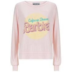 Wildfox California Dream Sweater ($140) ❤ liked on Polyvore featuring tops, sweaters, shirts, pattern shirts, jersey sweater, pink sweater, pink shirt und slouchy sweater