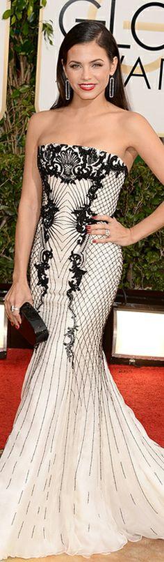 Jenna Dewan-Tatum in Roberto Cavalli at 71st Annual Golden Globes #goldenglobes2014