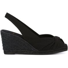 Castañer Dayana Sandals (€105) ❤ liked on Polyvore featuring shoes, sandals, black, black sandals, cotton shoes, castaner sandals, castañer and castaner shoes
