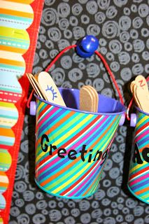 Morning Meeting Greetings on popsicle sticks - fun ways to say hello