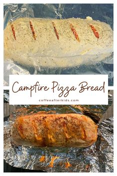 Campfire pizza bread is a great make-ahead meal for camping.  You can also make it in the oven at home. Camping Pizza, Camping Meals, How To Make Pizza, Easy Food To Make, Make Ahead Meals, Easy Meals, Grilled Pizza Recipes, Pizza Pockets, Pizza Dough
