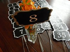 Amazing Elegant Chalkboards on a Stick for your wedding or event by LetsTalkChalk!  Just $5.00 each!