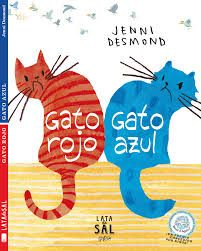Gato rojo, Gato azul (Spanish Edition): Red Cat and Blue Cat are always fighting. They are actually a little jealous of the other one's talents. They eventually realize that they would be much happier as friends.