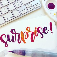 *SPOILER* There is no surprise I just wanted a lovely word to letter out after having days off from doing anything creative (due to work) and this was just something that sprang to mind! . . . . #lettering #brushlettering #letteringdesign #fauxcalligraphy #dailylettering #letteringart #typography #colourful #inspiration #creative #motivation #moderncalligraphy #brushpen #brushcalligraphy