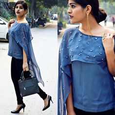 Cape-ing it out! Boho Style, Boho Chic, Kritika Khurana, Women's Clothes, Clothes For Women, Boho Girl, Beautiful Girl Indian, Classy Style, Western Dresses