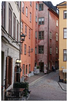 Old town, Stockholm, Sweden Copyright: Thomas Sautter Stockholm Old Town, Stockholm Sweden, Oh The Places You'll Go, Places To Visit, Visit Sweden, Stone Street, Old Town Alexandria, Sweden Travel, Old Town Square