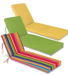 Fiesta Fun Colors And Major Comfort For A Chaise Lounge · Chaise  CushionsOutdoor ...