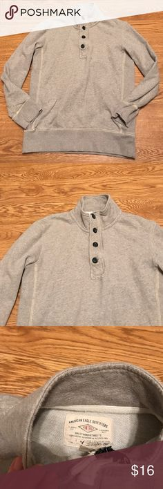 Men's American eagle vintage sz S long sleeve Good condition grey shirt sz Small American Eagle Outfitters Shirts Tees - Long Sleeve