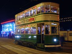 A #Blackpool #tram for North Pier.