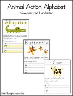 Handwriting worksheets and activities to encourage pre-writing strokes, letter formation and handwriting practice. Many fonts and styles of handwriting available. Different Handwriting, Improve Your Handwriting, Handwriting Activities, Handwriting Practice, Alphabet Activities, Gross Motor Activities, Gross Motor Skills, Sensory Activities, Action Alphabet