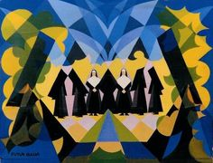 Balla, Giacomo (1871-1958) - 1925 Nuns and Landscape (Private Collection) by RasMarley, via Flickr