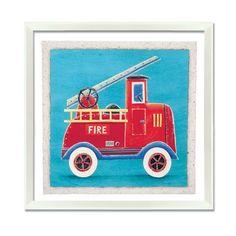 Art 4 Kids Fire Engine Wall Art