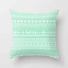 Minty-Licious Throw Pillow by Shawn Terry King