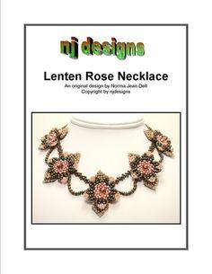 Instructions for Lenten Rose Necklace   -   Beading tutorial via Etsy