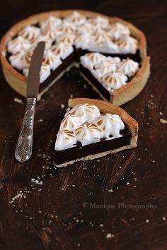 MIEL & RICOTTA: Tarte au Chocolat meringuée