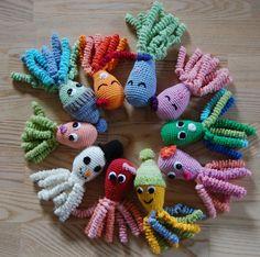 Crochet Flamingo, Crochet Octopus, Crochet Unicorn, Crochet Bebe, Diy Crochet, Basic Crochet Stitches, Crochet Patterns, Knitting Projects, Crochet Projects