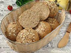 Bajeczna Kuchnia: Bułki orkiszowe pełnoziarniste Calzone, Bread Rolls, Muffin, Paleo, Food And Drink, Low Carb, Baking, Breakfast, Recipes