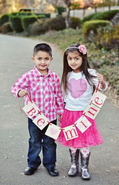 Valentine portrait brother sister siblings kids, Valentines Day Banners in 2014 www.loveitsomuch.com