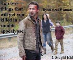 zombie apocalypse TV series The Walking Dead lol humor funny pictures funny pics