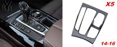 Car styling Carbon fiber Gear Shift Panel Decoration decal 3D sticker for BMW X5 F15 2014-16 auto interior accessories