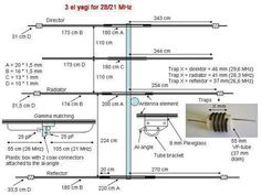 3 Element HF Yagi for 21 and 28MHz.