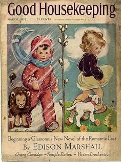 March comes in like a lion and goes out like a lamb ~♡~ Artist Vernon Thomas -  Good Housekeeping, March 1935