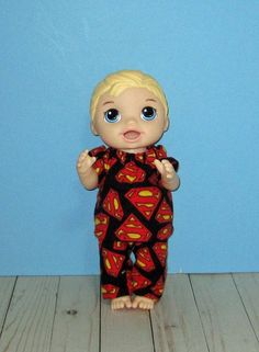Baby a Live Baby Alive Doll Clothes, Boy Doll Clothes, Baby Alive Dolls, Boys Pajamas, All The Way Down, Rocking Chair, Superhero, Disney Princess, Disney Characters