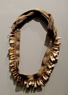 Necklace Made From Human Teeth -  on display at the Bower's Museum of Cultural Art in Santa Ana, California