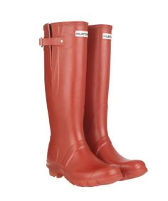 A pair of Hunter Original Adjustable Wellington Boots in red