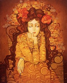Keeper of Secrets I by Roza Goneva (Avalon Gallery Contemporary Fine Art) Art Fantaisiste, Art Et Illustration, Inspiration Art, Whimsical Art, Face Art, Painting & Drawing, Fantasy Art, Art Gallery, Artsy