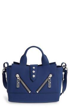 KENZO 'Mini Kalifornia' Leather Satchel. #kenzo #bags #shoulder bags #hand bags #leather #satchel #lining #
