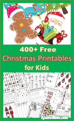 400+ FREE Christmas themed printable worksheet for kids, including various subjects for kids of different ages: math, number, alphabet, sight words, coloring, games, …: