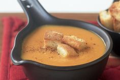 Moroccan sweet potato, carrot and chickpea soup main image