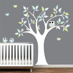 Children Vinyl Wall Decals Nursery Tree Wall Decal by Modernwalls, $99.00