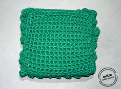 handmade crochet PILLOW ENTRE collection design N by ENTREDESIGN