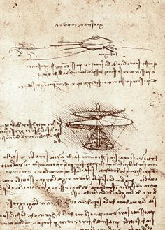 Leonardo da Vinci design to be made from wire, cane, and linen—is often described as a precursor to the modern helicopter. The contraption was intended to lift vertically off the ground, so that it will make its spiral in the air and rise high Leonardo Da Vinci Zeichnungen, Machine Volante, Renaissance Men, Western Art, Cartography, Art History, Find Art, Cool Art, Twilight