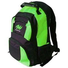 Accessories 50812: Motiv Black/Green Bowling Zipline Backpack -> BUY IT NOW ONLY: $31.75 on eBay!