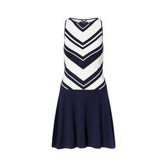 Ralph Lauren Lauren Chevron Sweater Dress (5,950 PHP) ❤ liked on Polyvore featuring dresses, sleeveless sweater dress, ralph lauren, round neck sleeveless dress, blue sleeveless dress and slip on dress