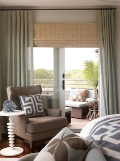 Combine Unlined Linen Drapes With Natural Shades For A Textured Organic Feel